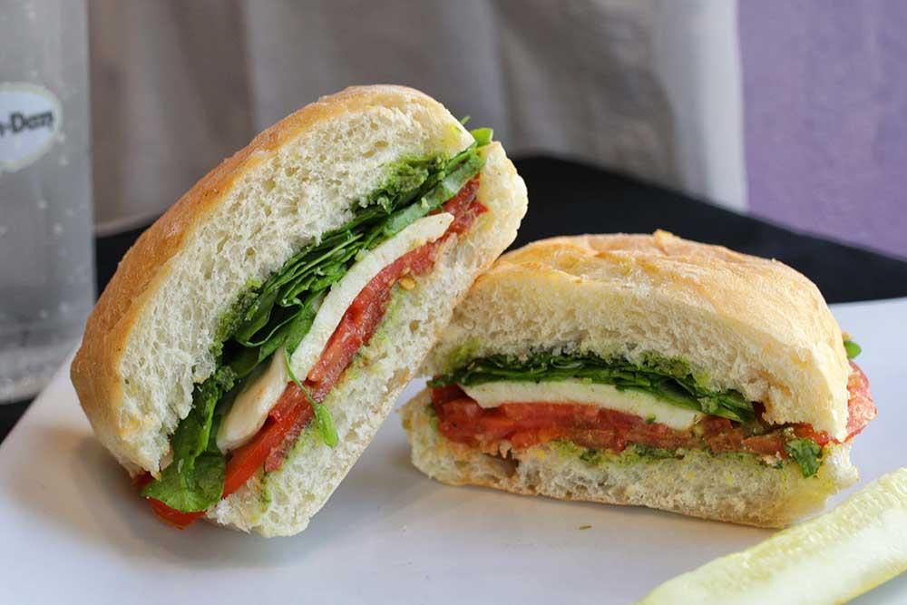 cool caprese sandwich